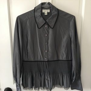 Ruffle & Tulle bottom blouse Coldwater Creek